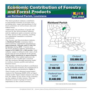 Economic Contributions of Forestry and Forest Products on Richland Parish, Louisiana