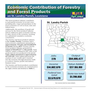 Economic Contributions of Forestry and Forest Products on St. Landry Parish, Louisiana