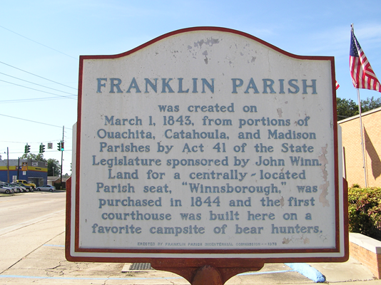 Franklin Parish Historic Marker