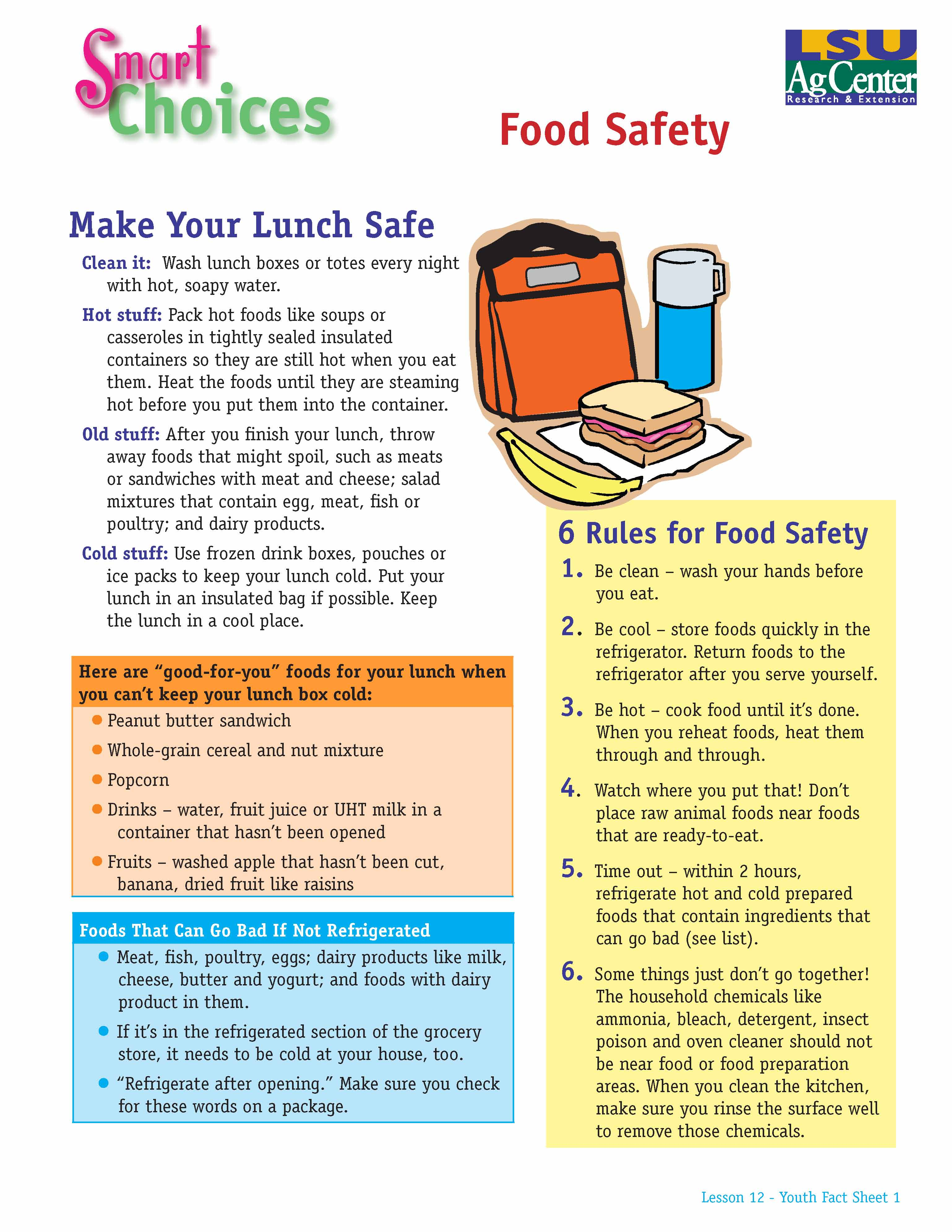 Smart Choices:  Make Your Lunch Safe