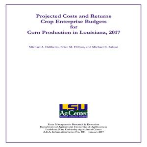 Projected Commodity Costs and Returns for Corn, 2017