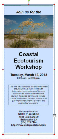 Coastal Ecotourism Workshop