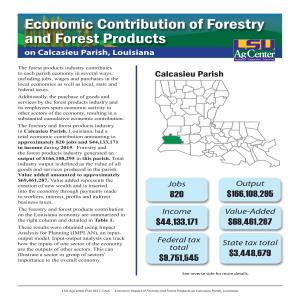Economic Contribution of Forestry and Forest Products on Calcasieu Parish, Louisiana