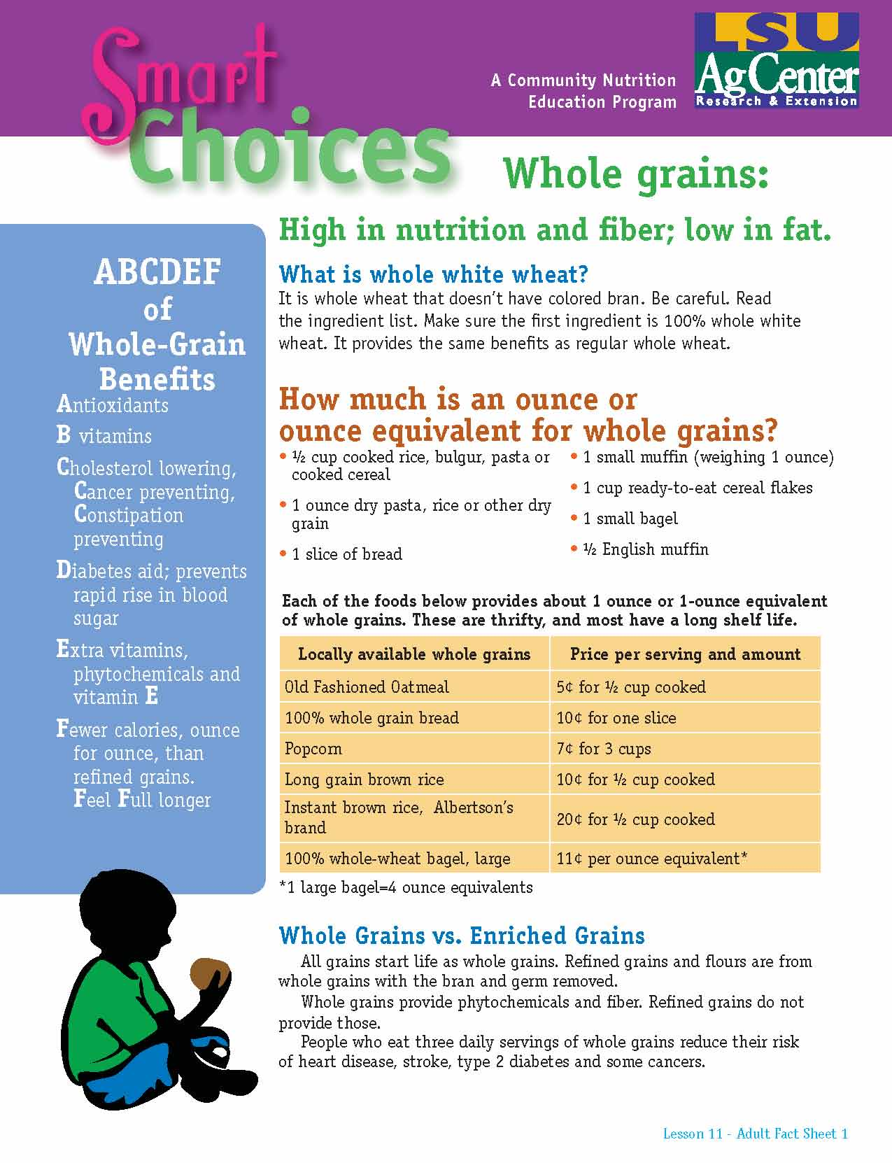 Smart Choices:  Whole Grains