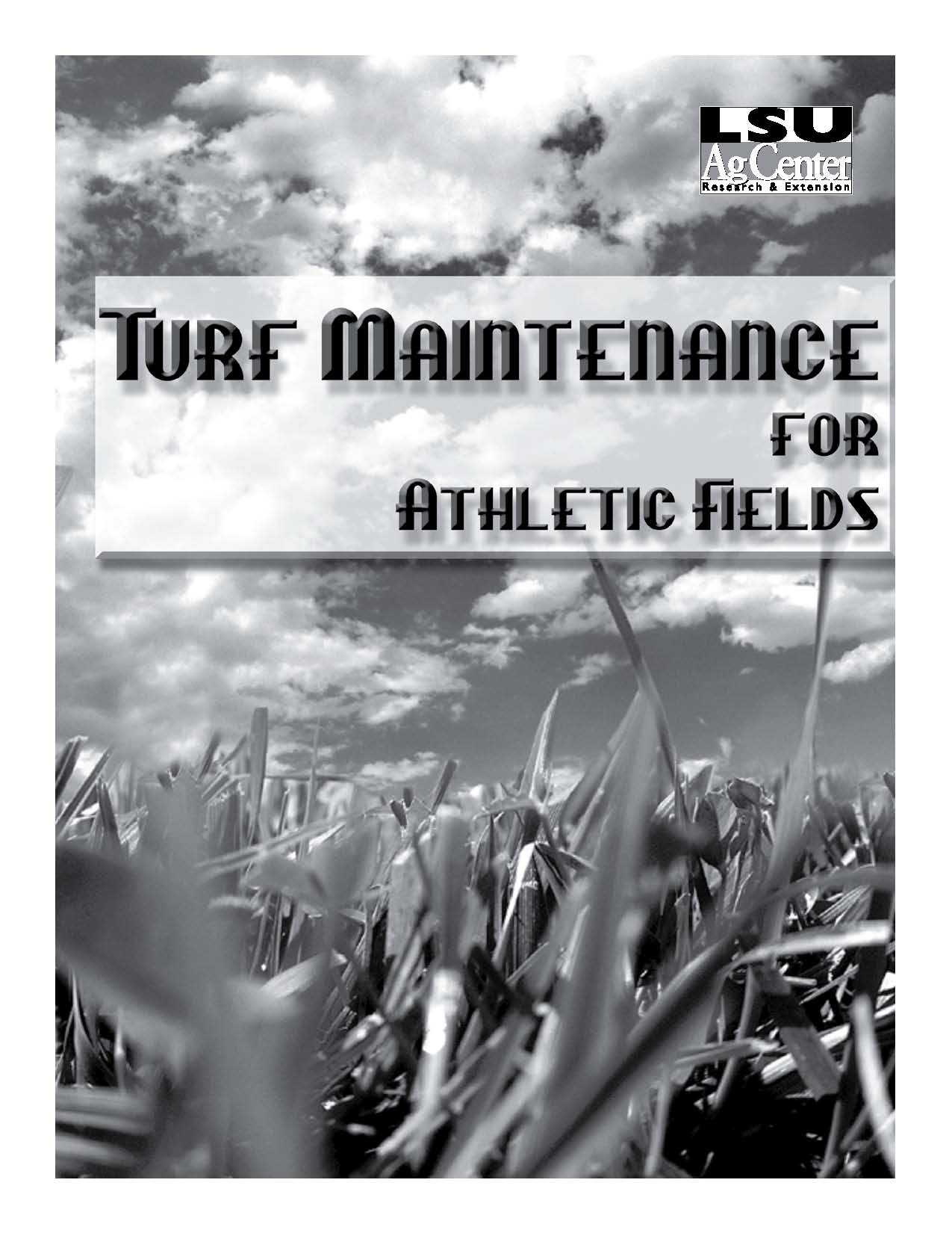 Turf Maintenance for Athletic Fields