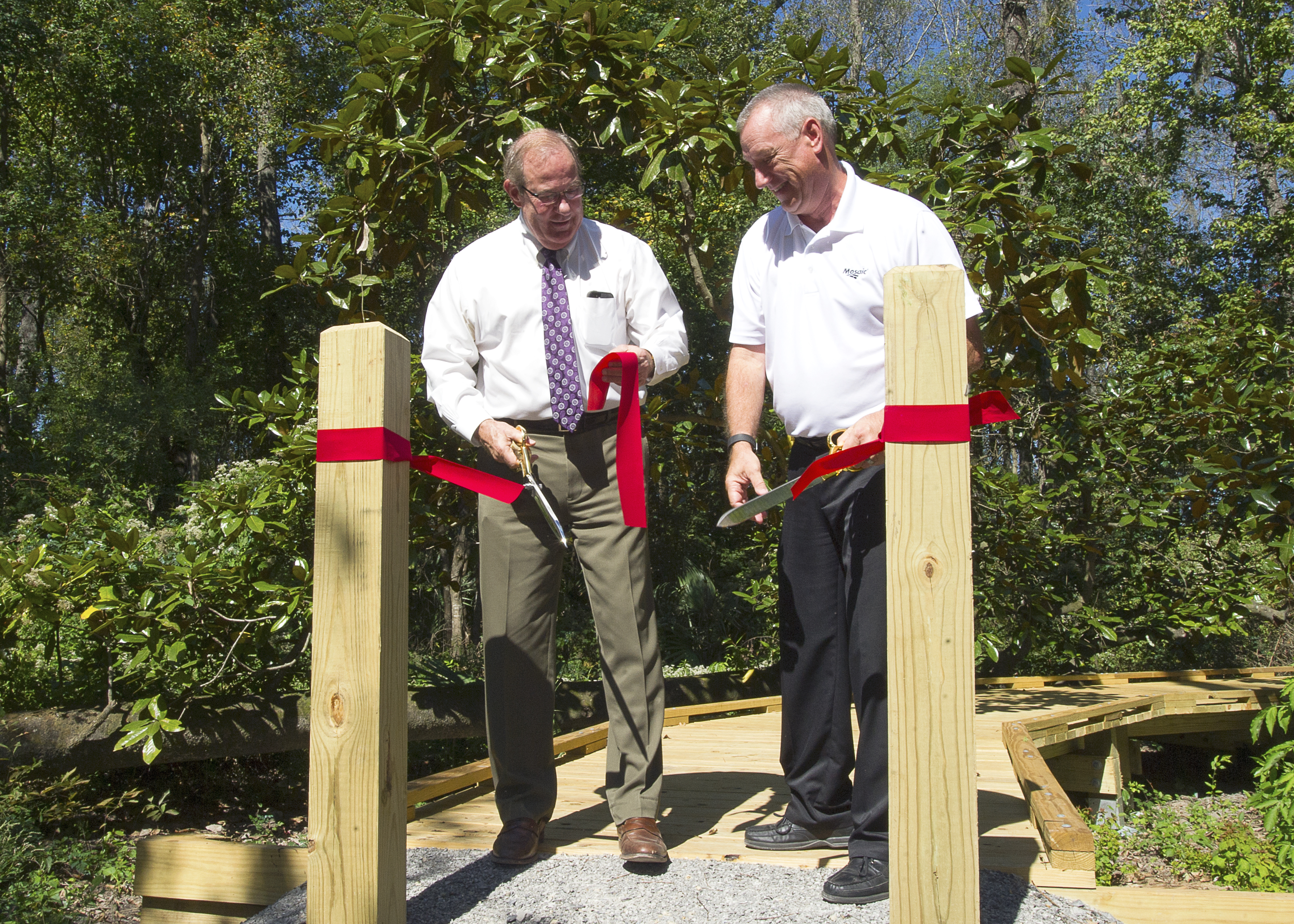 New LSU AgCenter wetlands program kicks off with boardwalk ribbon cutting