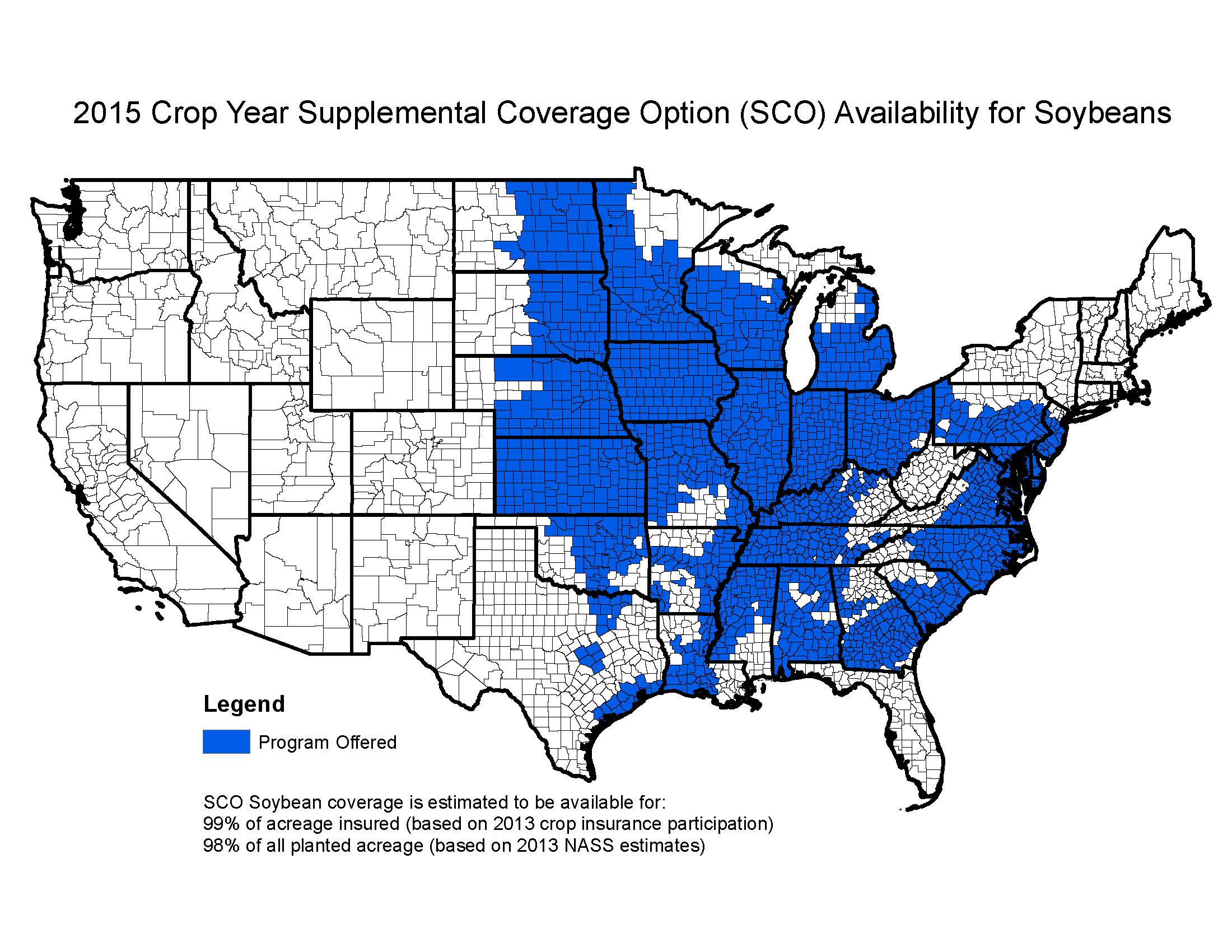 National SCO Coverage Maps for 2015