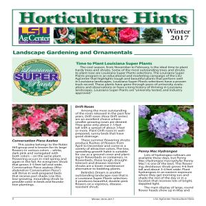 Horticulture Hints Winter 2016