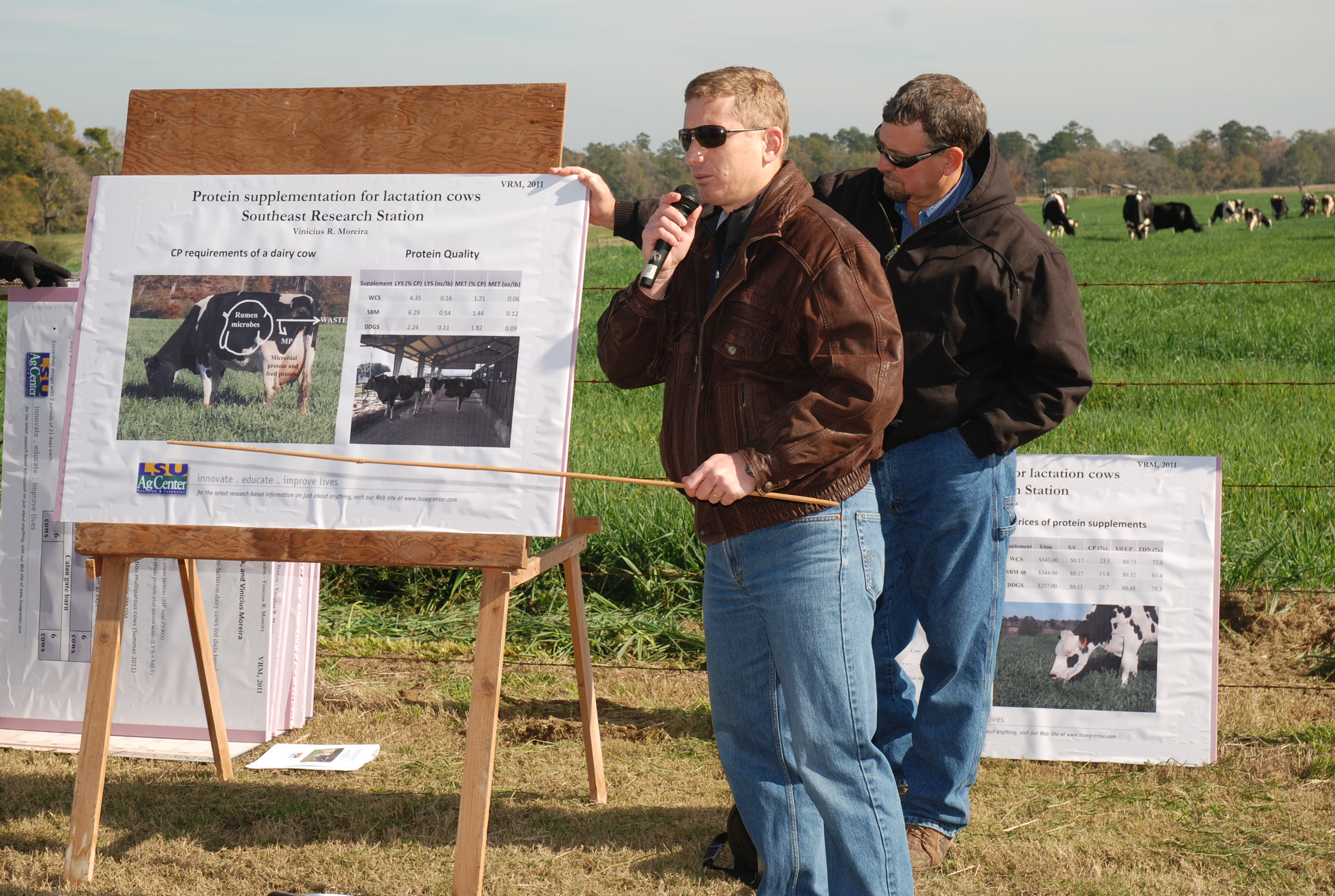 Dairy farmers hear production information at field day