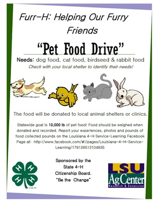 Pet Food Drive Flyer