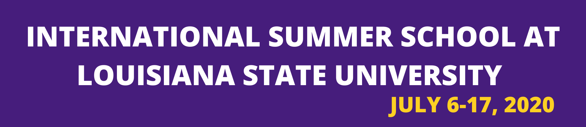 international SUmmer school at LOUisiana State Universitypng