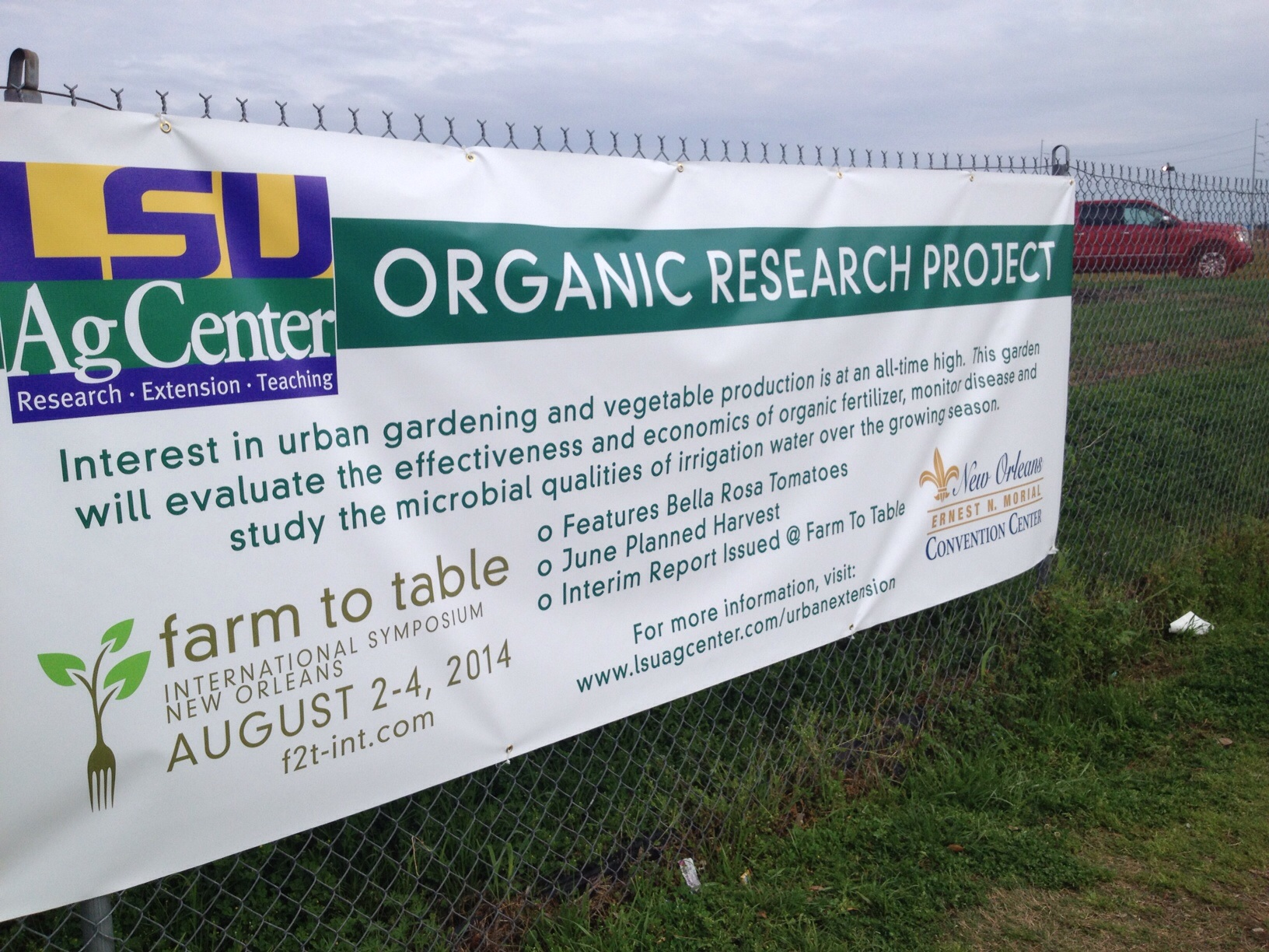 WDSU News Report on Organic Tomato Study