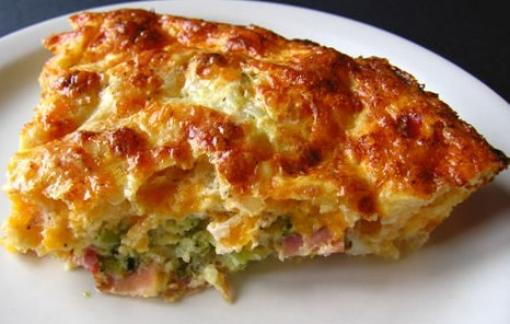 Crustless Crawfish Quiche