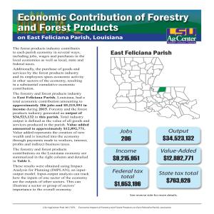 Economic Contribution of Forestry and Forest Products on East Feliciana Parish, Louisiana