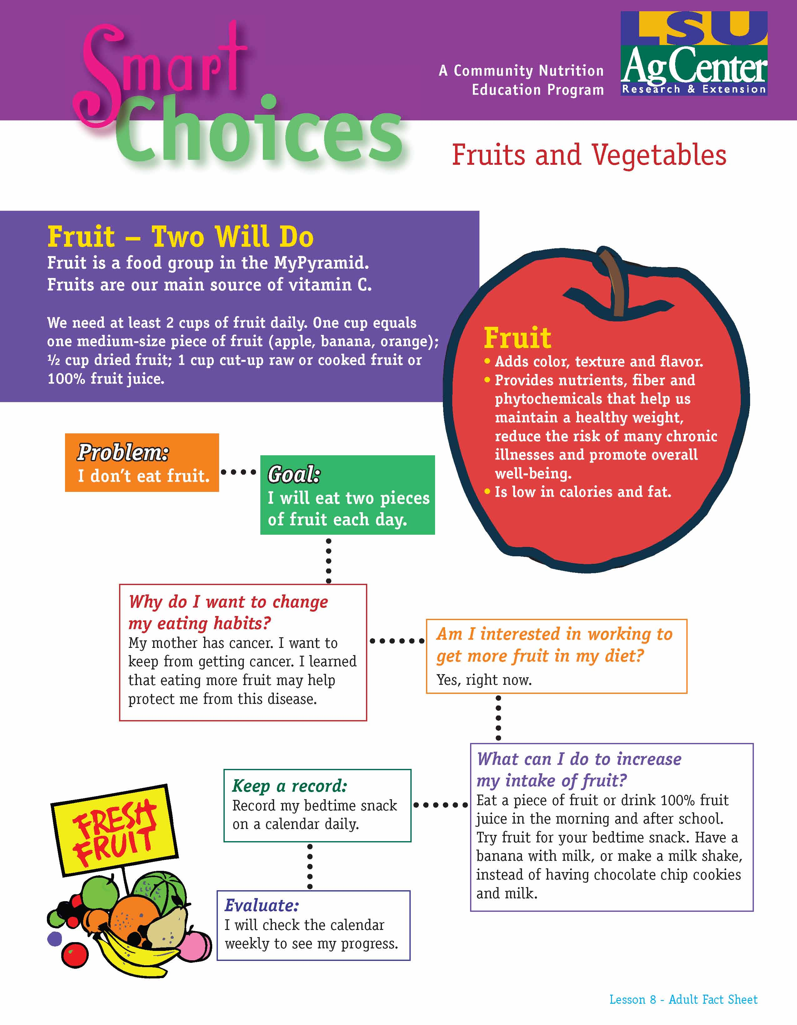 Smart Choices:  Fruit - Two Will Do