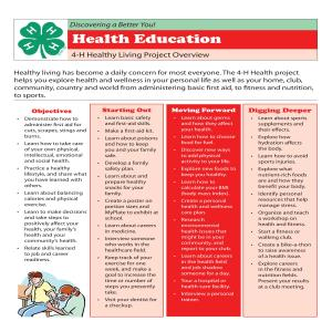 4-H Healthy Living Project Overview- Health Education