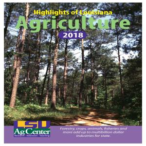 2018 Highlights of Louisiana Agriculture