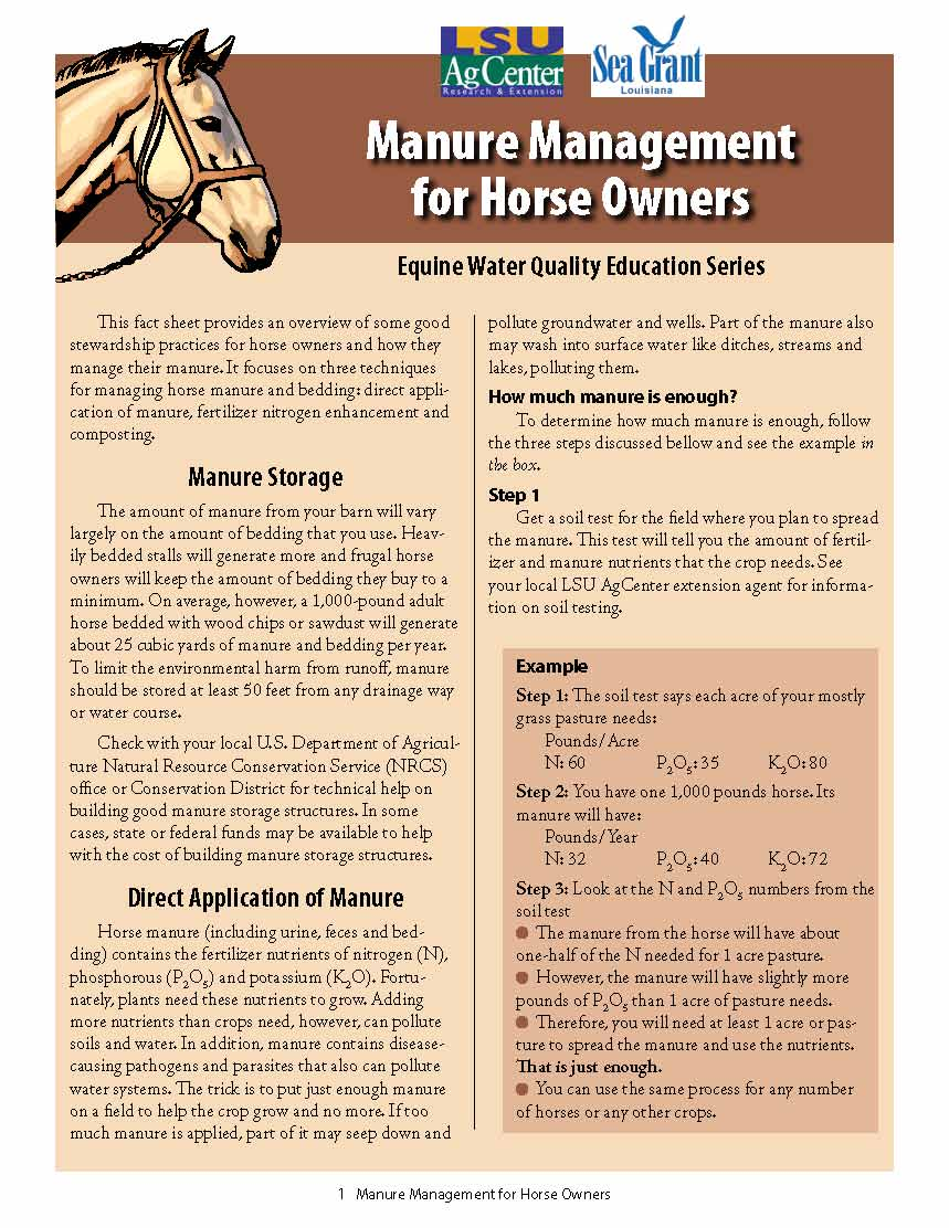 Manure Management for Horse Owners