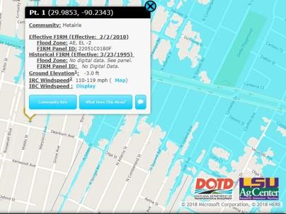 Louisiana FloodMaps Portal - La flood zone map