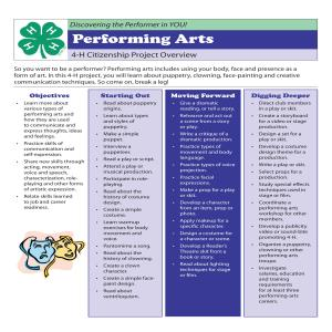 Performing Arts Project Overview