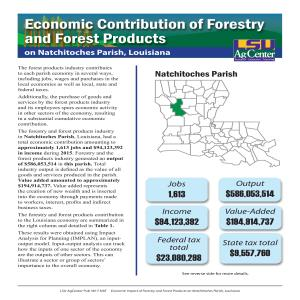 Economic Contributions of Forestry and Forest Products on Natchitoches Parish, Louisiana