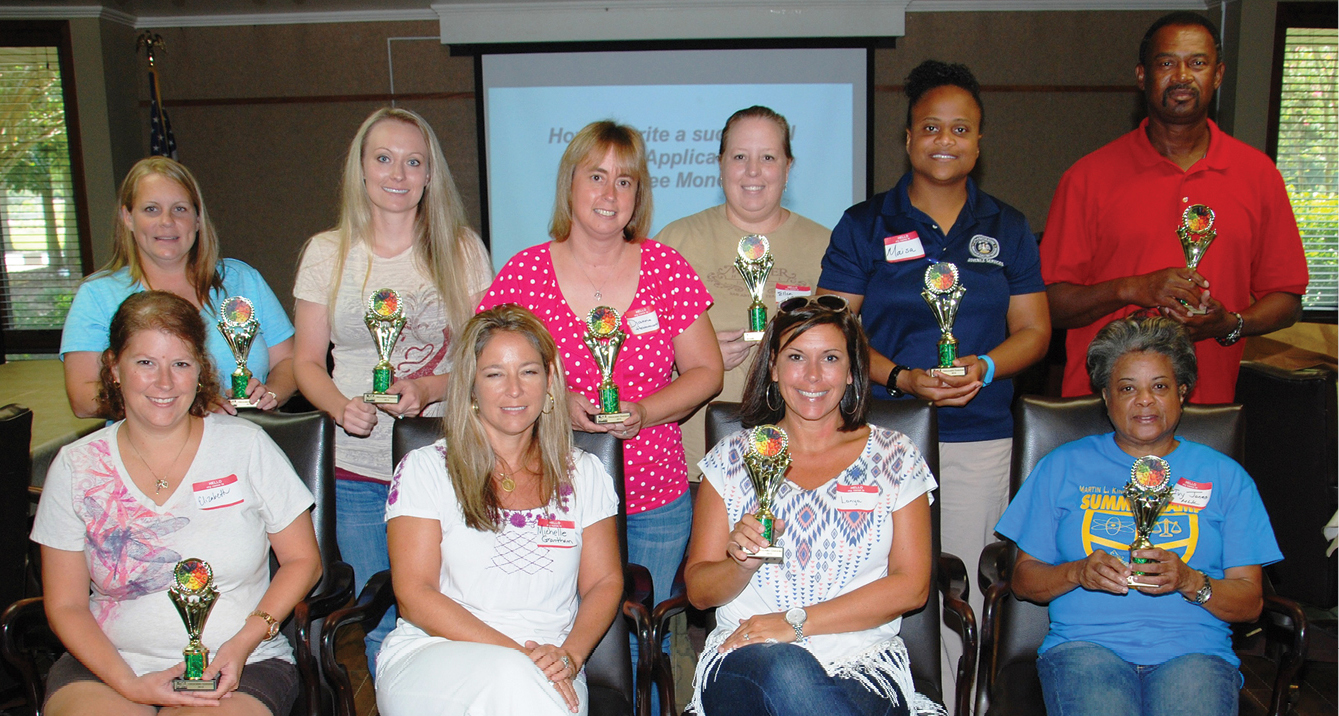 Ten teachers participating in the LSU AgCenter school gardening program