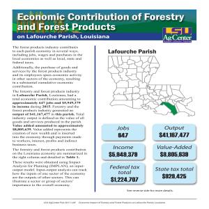 Economic Contributions of Forestry and Forest Products on Lafourche Parish, Louisiana