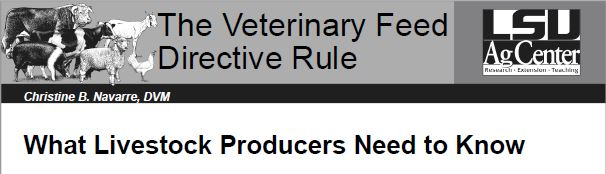 The Veterinary Feed Directive Rule: What Producers Need to Know
