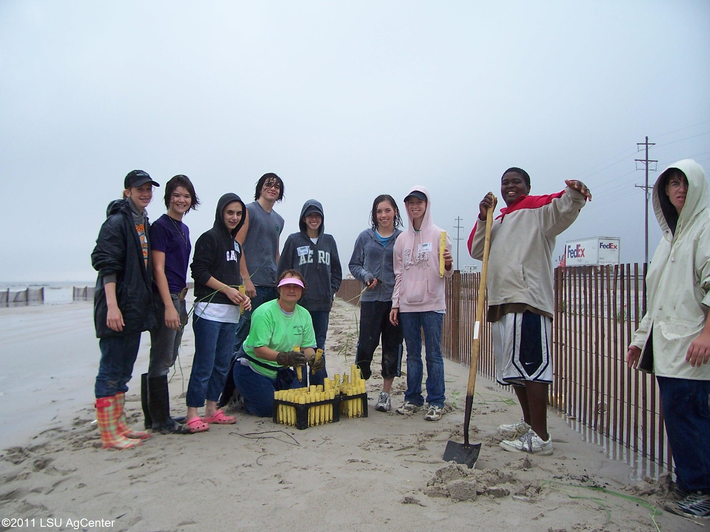The Green Teens of Calcasieu Parish make an impact on the environment!