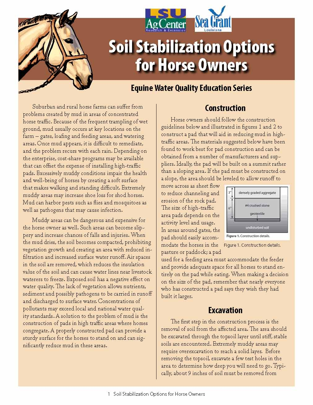 Soil Stabilization Options for Horse Owners