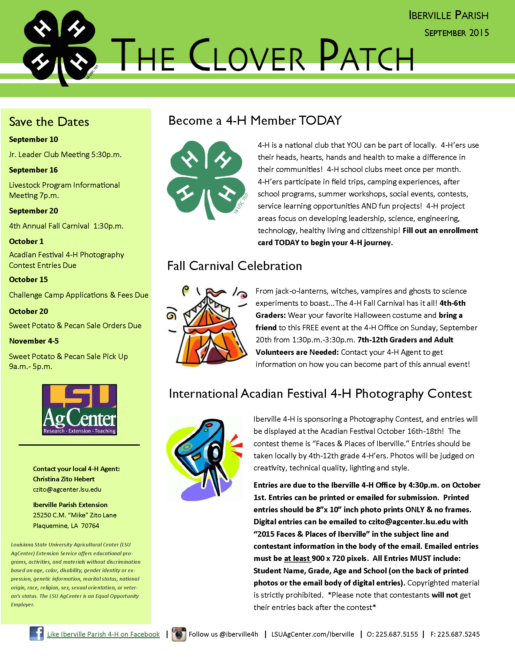 2015-16 Clover Patch Newsletters