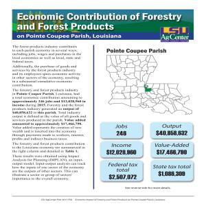 Economic Contributions of Forestry and Forest Products on Pointe Coupee Parish, Louisiana