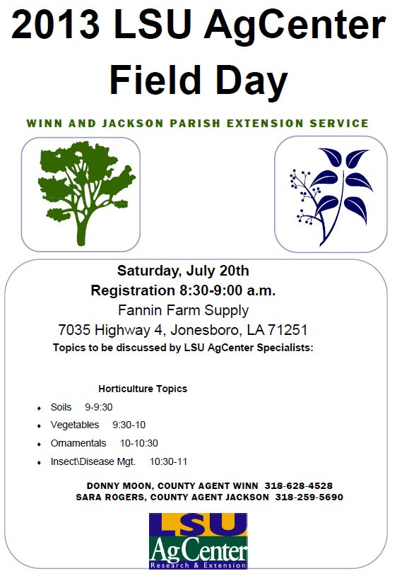 Click here for the PDF version of the 2013 LSU AgCenter Winn and Jackson Parish Extension Service Fi