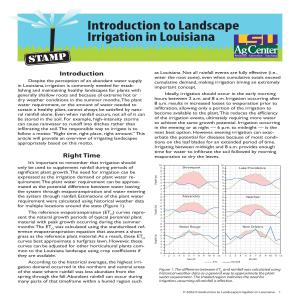 Introduction to Landscape Irrigation in Louisiana