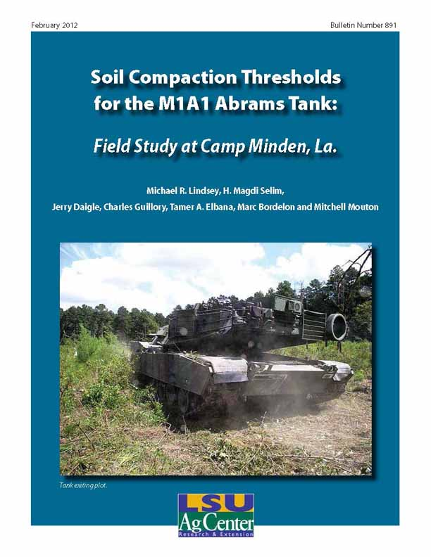 Soil Compaction Thresholds for the M1A1 Abrams Tank: Field Study at Camp Minden La.