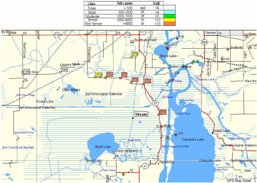 Salt Water Intrusion Maps Post Rita