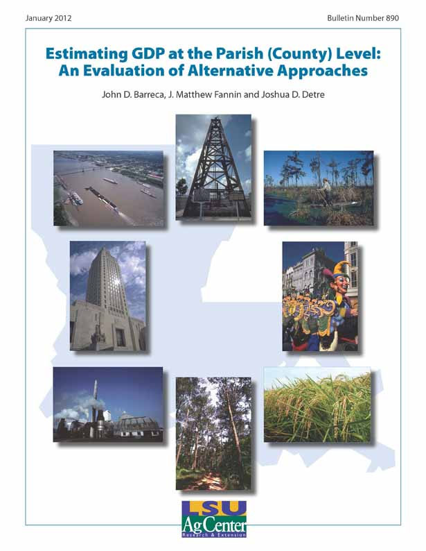 Estimating GDP at the Parish (County) Level: An Evaluation of Alternative Approaches
