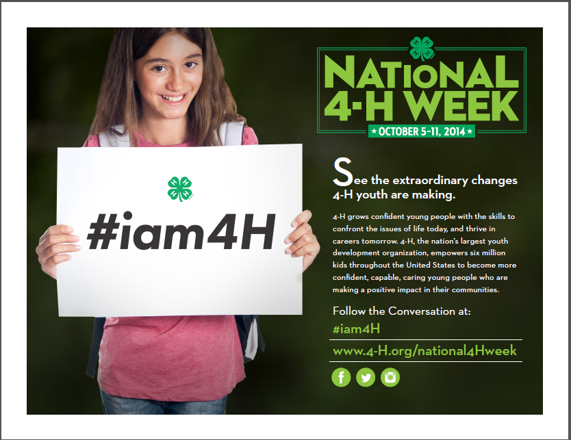 How to Celebrate National 4-H Week