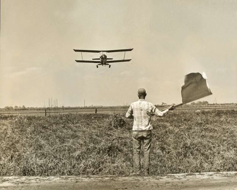 Aerially Spraying Field