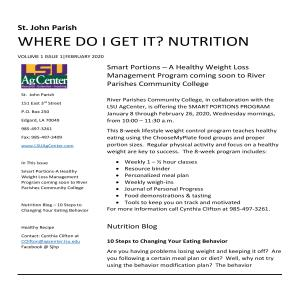 Where Do I Get It? Nutrition Newsletter February 2020