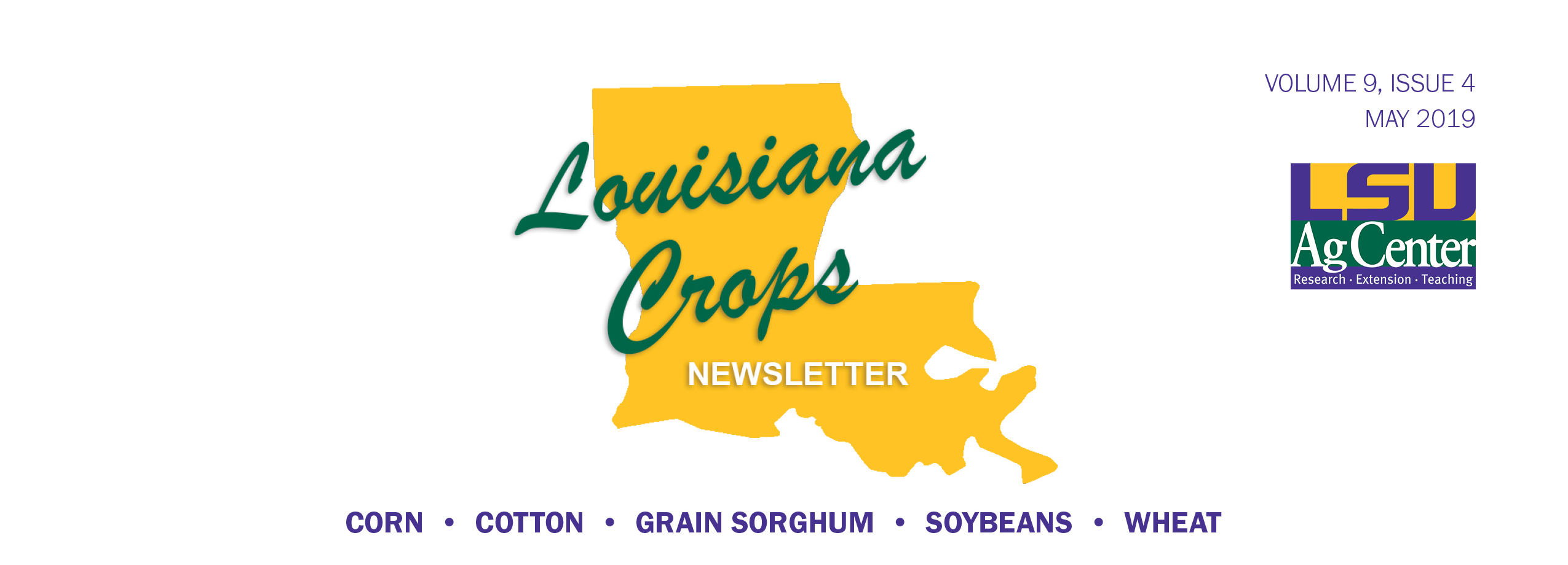 Louisiana Crops newsletter May 2019 header.jpg thumbnail