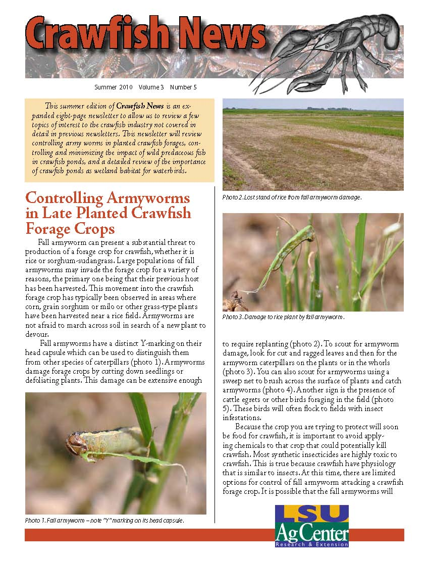 Crawfish News Summer 2010 (Vol 3, No 5)