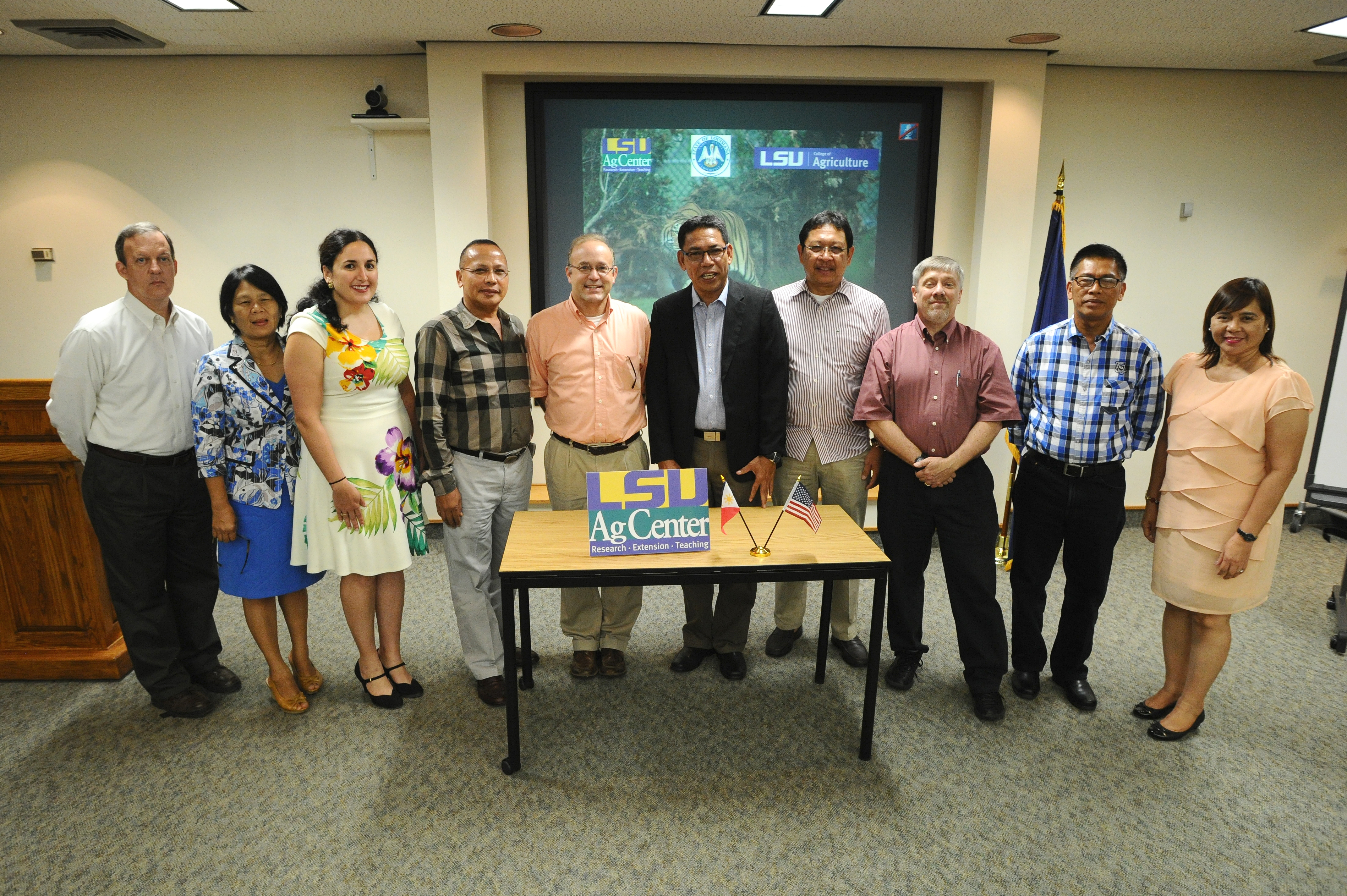 Filipino group visits AgCenter to learn about rice production, outreach