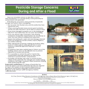 Pesticide Storage Concerns During and After a Flood