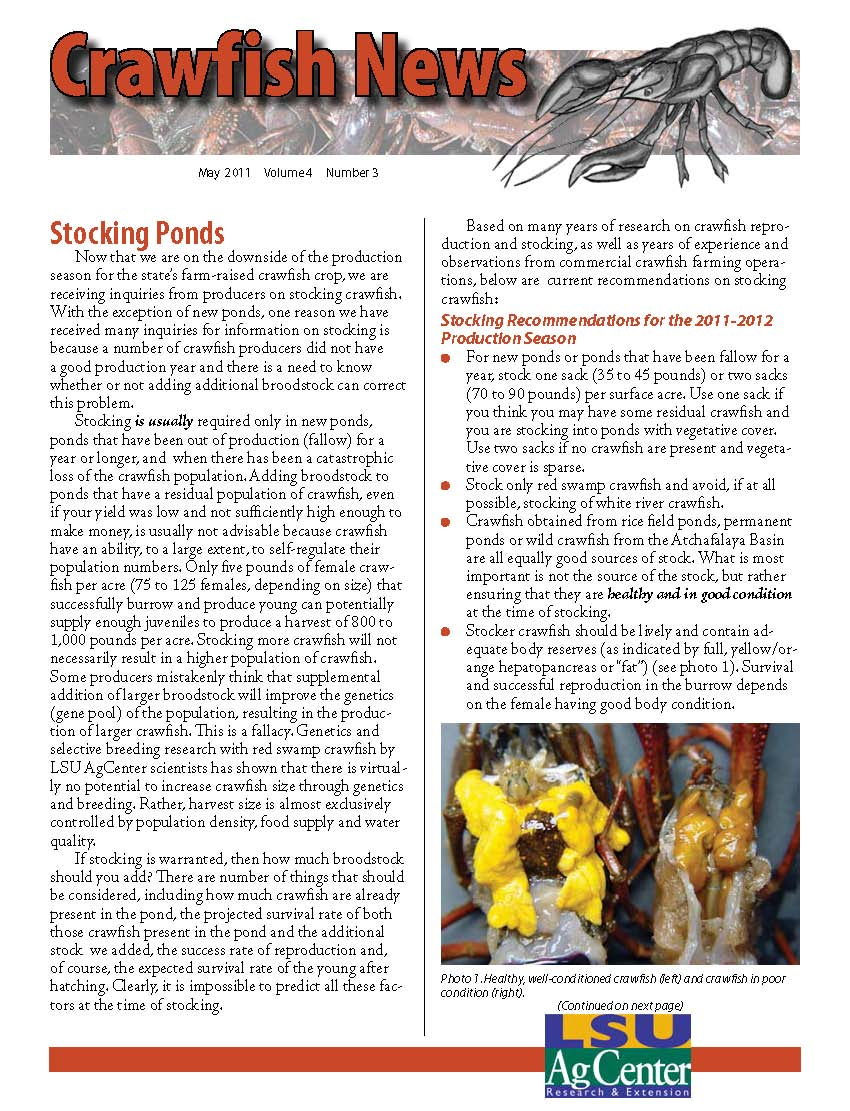 Crawfish News May 2011 (Vol 4, No 3)