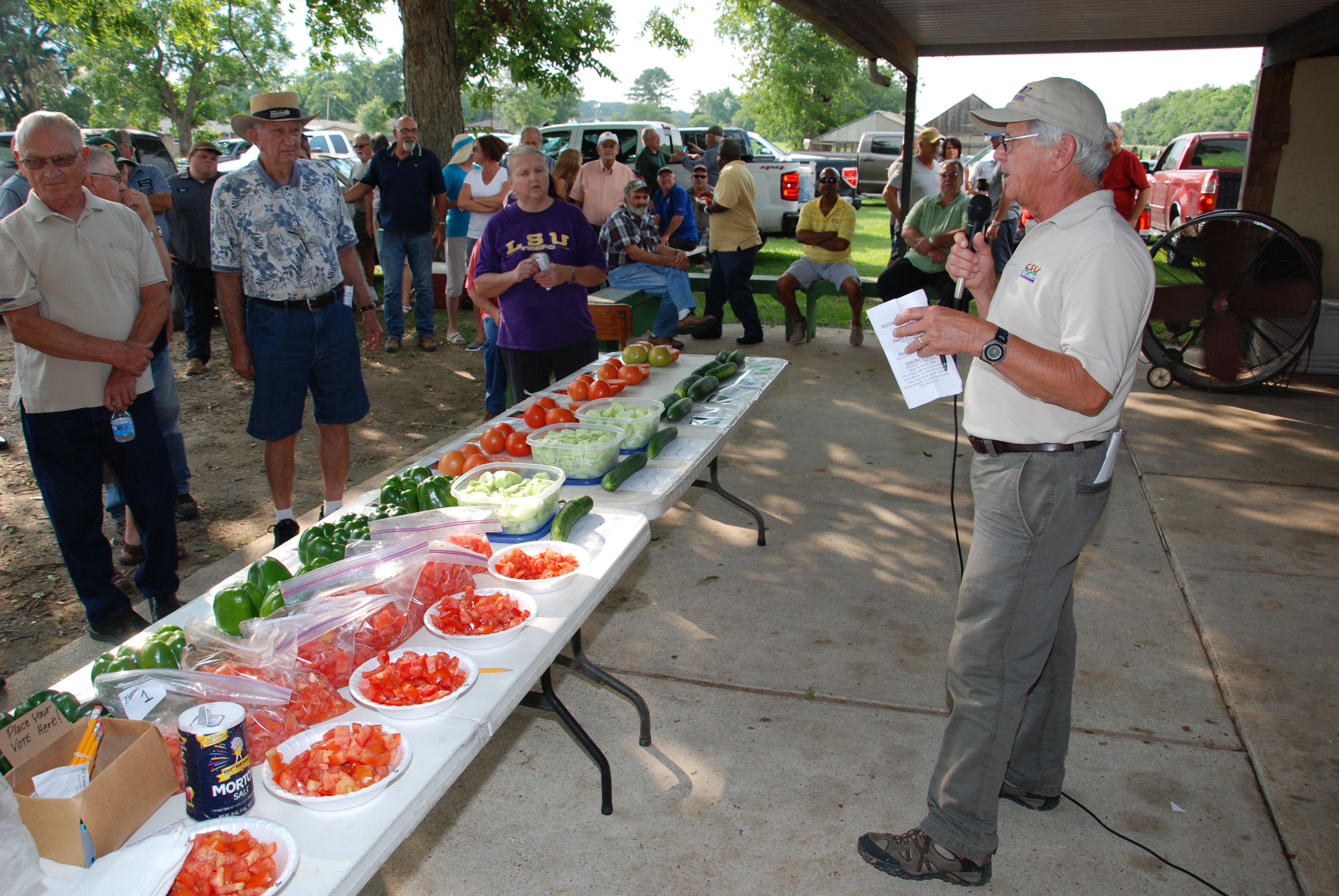 Tomato field day brings community together