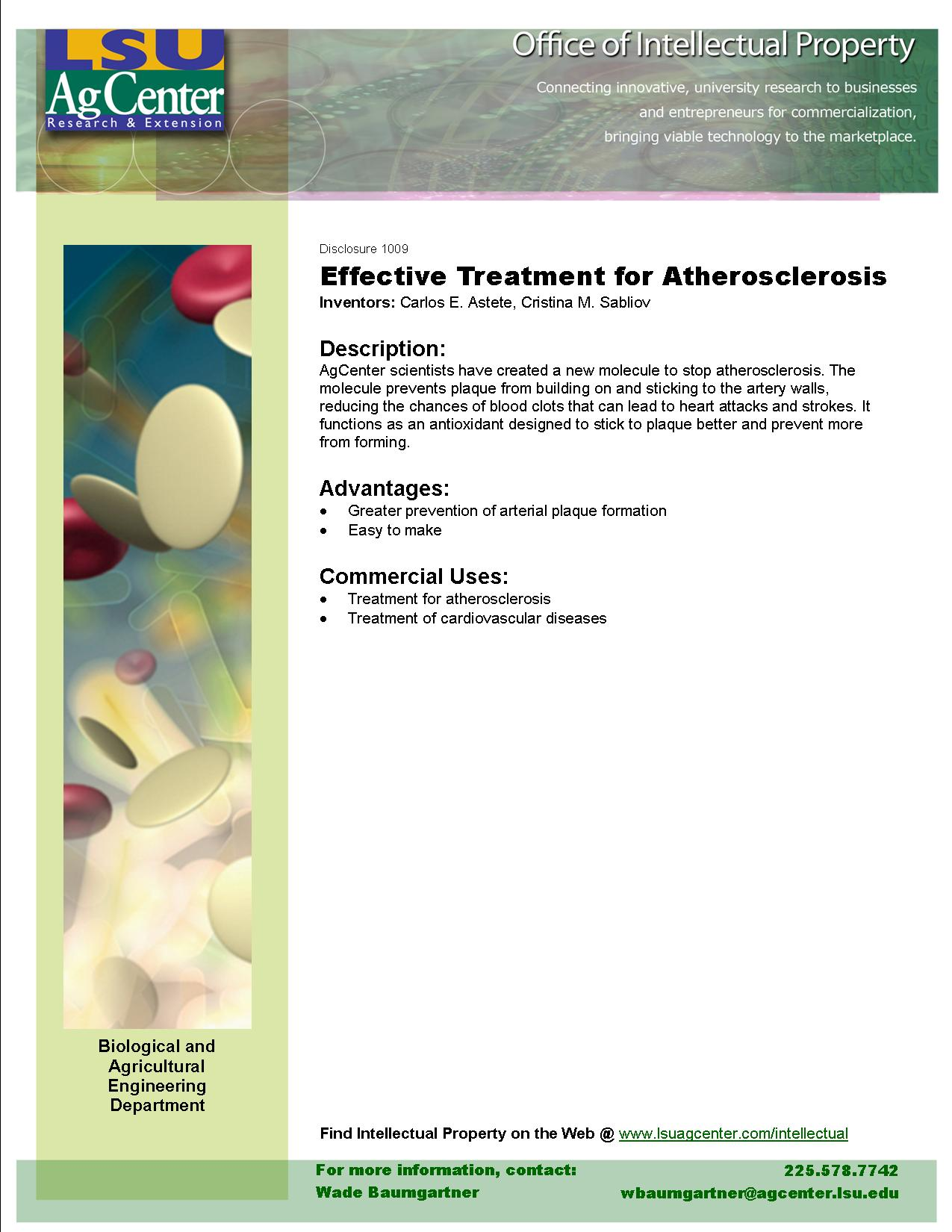 Effective Treatment for Atherosclerosis