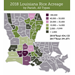 2018 Louisiana Rice Acreage by Parish, All Types